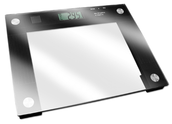 A talking scale.